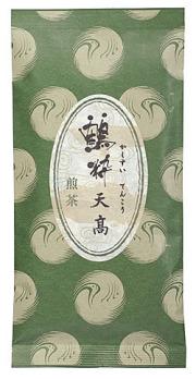 鶴粋銘茶シリーズの上級深蒸し煎茶、天高(てんこう)の茶袋外観です